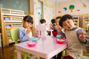 Education research - Children eating snack